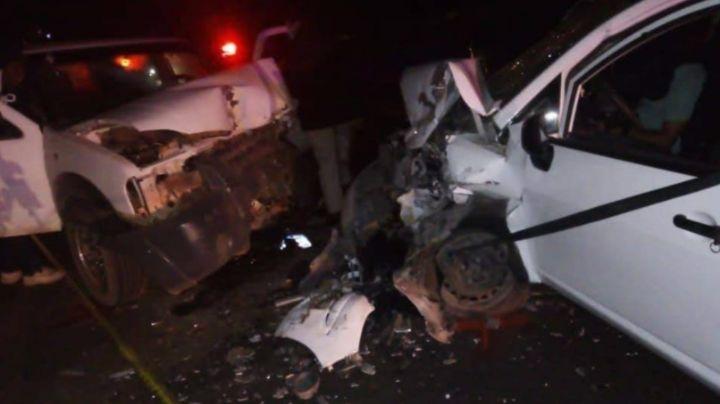 Aparatoso accidente: Colisionan dos unidades y fallece un agente de la Guardia Nacional