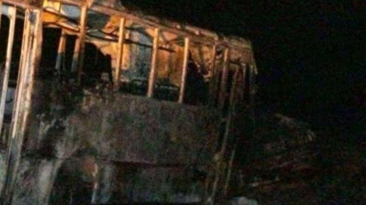 Explosión de autobús universitario deja 4 muertos; otros 11 sufrieron graves lesiones