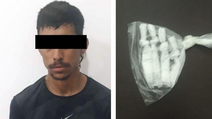 Sorprenden a joven de 23 años durante venta de droga a las afueras de Ciudad Obregón