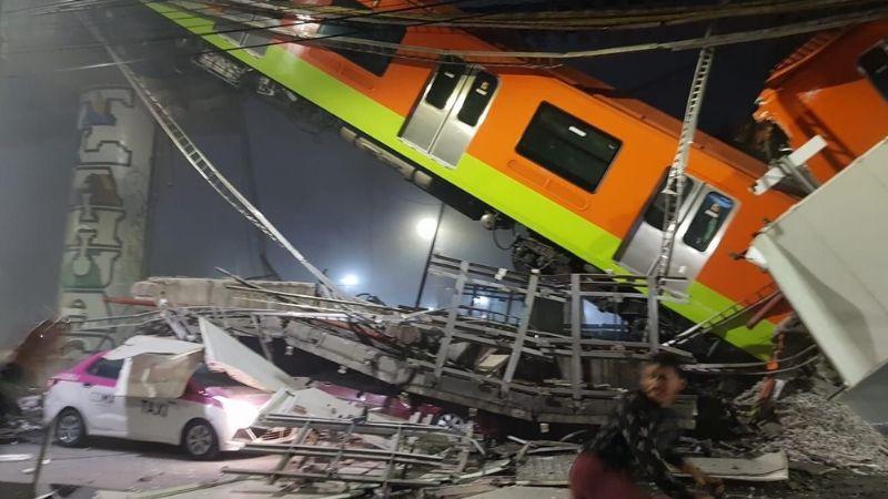 VIDEO: Colapsa puente y cae vagón del Metro de la CDMX; hay personas heridas y prensadas