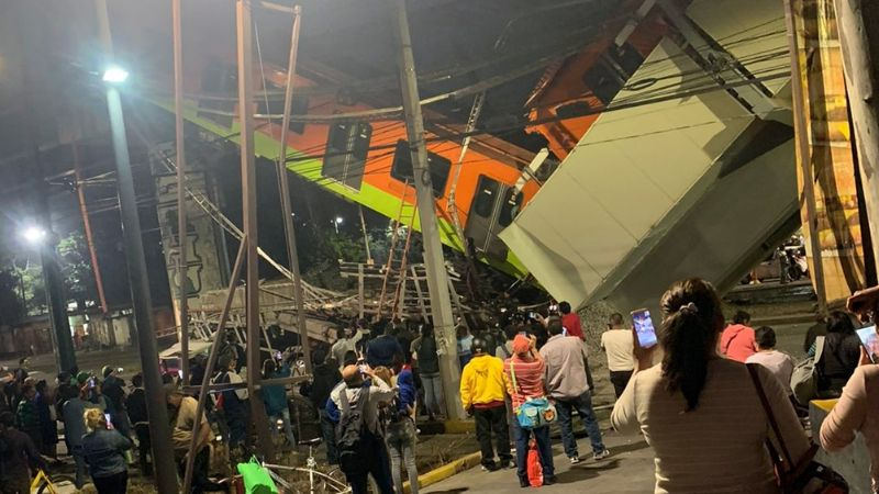 VIDEO: Así fue el terrible momento en que el Metro de la CDMX colapsó y se derrumbó