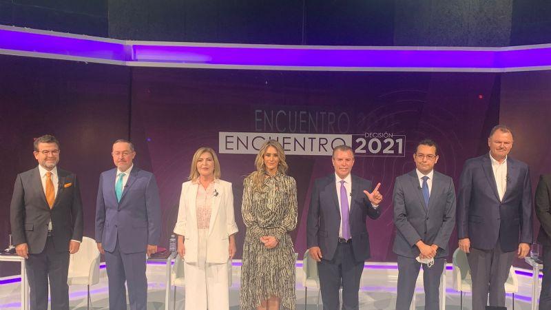 """Ricardo Bours convence en debate televisivo; """"no tuvo la cara para venir"""", reclama a Durazo"""