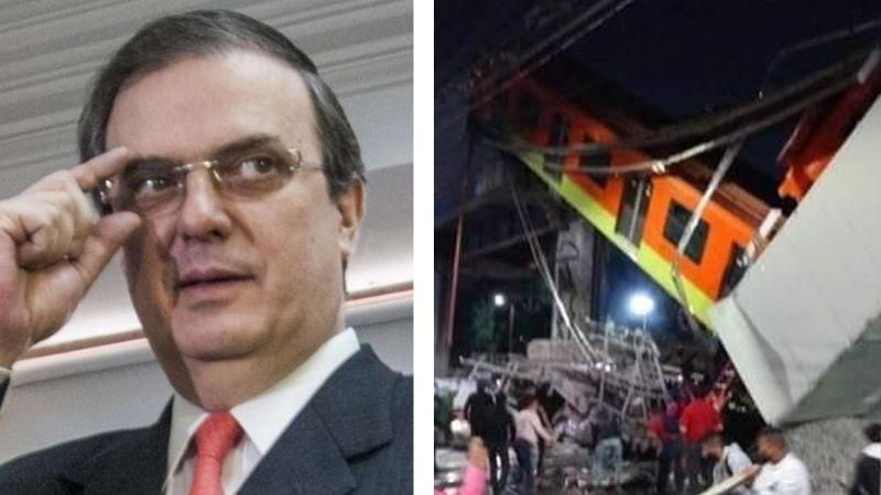 """""""No fue un accidente"""": Atacan a Marcelo Ebrard por accidente de la Línea 12 del Metro de la CDMX"""