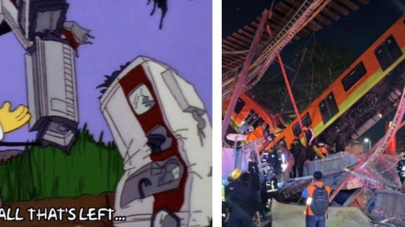 ¡Lo vuelven a hacer! 'Los Simpson' predijeron trágico accidente del Metro de la CDMX