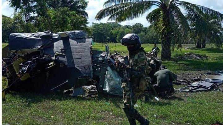 VIDEO: Se desploma helicóptero en Colombia; mueren 5 agentes dela Unidad de Antinarcóticos