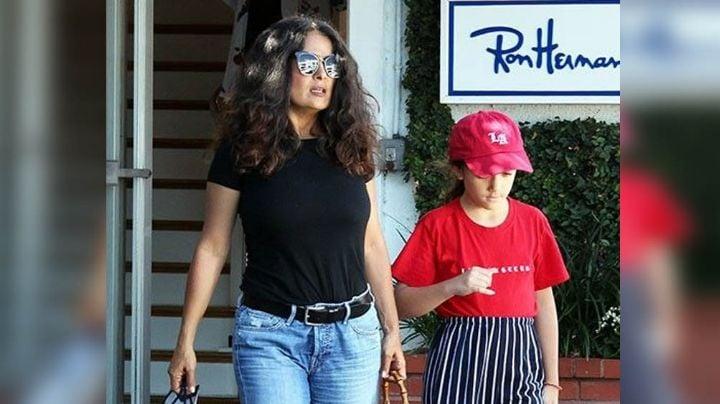 ¡Sorprendente! Salma Hayek revela FOTO junto a su hija poco conocida para hacer esto