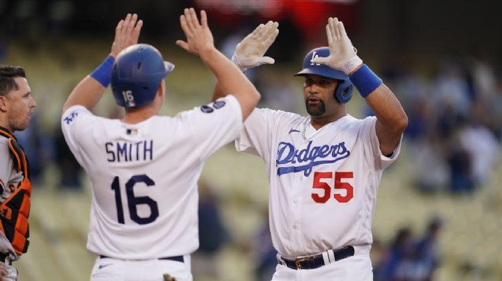 Albert Pujols da HR 670 y pasa a Ruth en hits de extrabases; Dodgers caen ante Gigantes