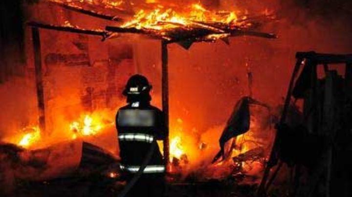 Muere calcinado menor de 2 años en voraz incendio de una vivienda en Tamaulipas