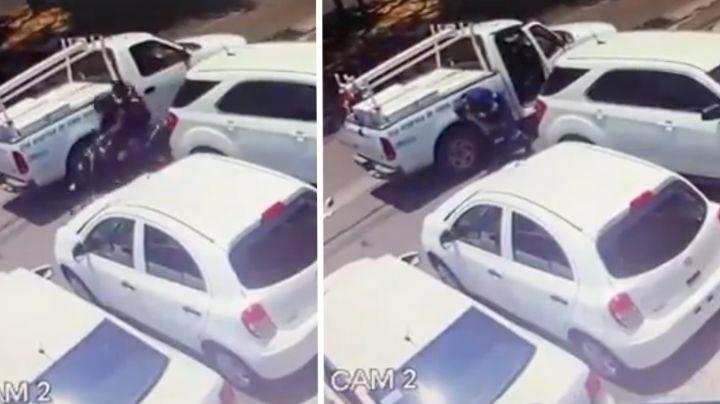 FUERTE VIDEO: A sangre fría, sicarios asaltan a Alberto al salir del banco y lo matan de dos tiros