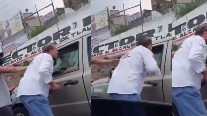 Tras pedir disculpas, Alfredo Adame pierde el control en plena calle y ataca a automovilista