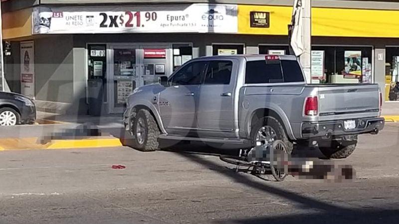 Doble asesinato en Ciudad Obregón: Balean a dos ciclistas en estacionamiento de tienda
