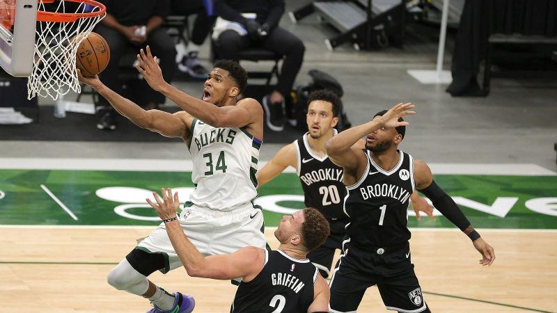 Bucks comandados por Giannis Antetokounmpo le repiten la dosis a los Nets