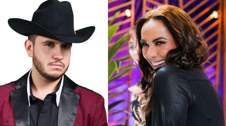 Consuelo Duval posa desde Televisa muy bien acompañada del vocalista de Calibre 50