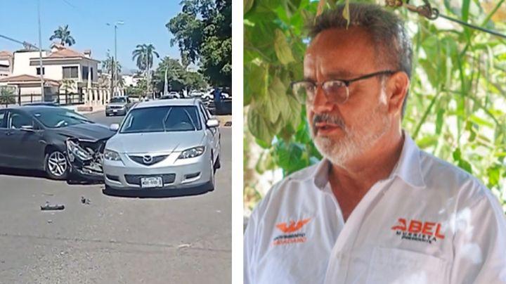 Abel Murrieta, candidato a la alcaldía de Cajeme, sufre accidente vehicular en Ciudad Obregón