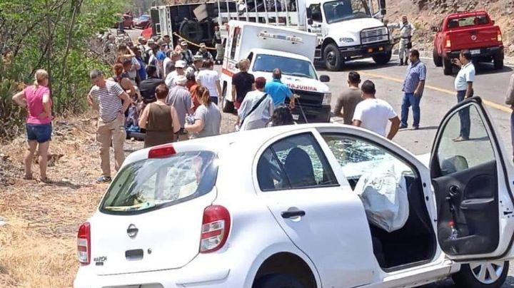 FOTOS: ¡Terrible accidente! Camión de la Guardia Nacional se vuelca; hay 19 lesionados