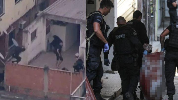 FUERTE VIDEO: Policía irrumpe en favela y ataca a tiros a sicarios; van 25 muertos tras masacre