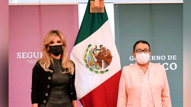 Claudia Pavlovich se reúne con la titular de Seguridad Pública del Gobierno de México