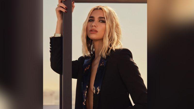 ¡Reina! Dua Lipa enamora todo Instagram Instagram en divino 'outfit' morado