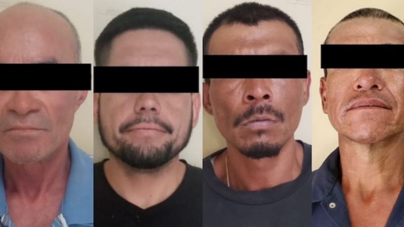 Atrapan a cuatro presuntos 'tiradores' al norte de Sonora; les aseguran 40 envoltorios de droga
