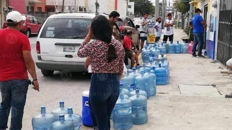 Escasez de agua en Tamaulipas provoca cierre de purificadoras y causa caos entre los pobladores