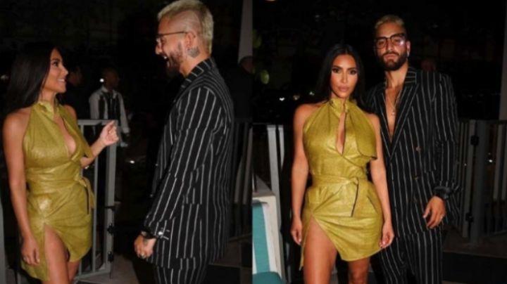 Kim Kardashian y Maluma presumen fotos juntos y desatan rumores sobre noviazgo