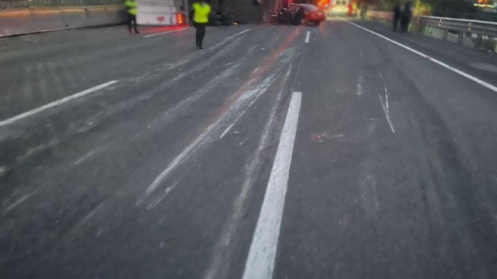Aparatoso accidente vial deja saldo de un muerto y varios lesionados; cierran autopista