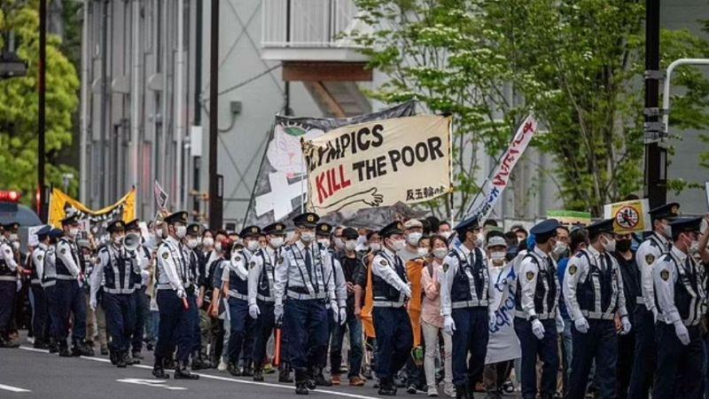 Covid-19: ¡Furia en Japón! Comienzan protestas masivas en contra de los Juegos Olímpicos