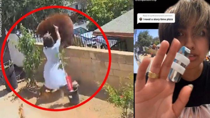 VIDEO: Adolescente se enfrenta mano a mano contra un oso para salvar a sus perritos