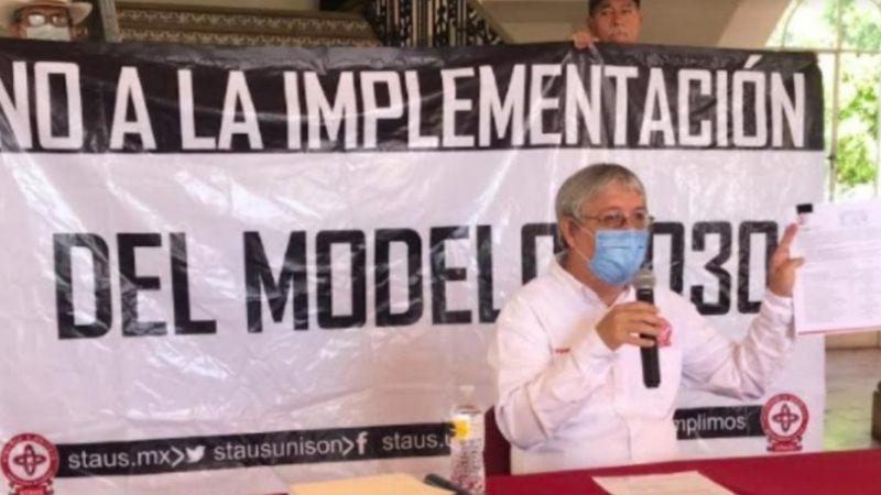 STAUS rechaza Modelo Educativo 2030; 400 maestros podrían perder su trabajo
