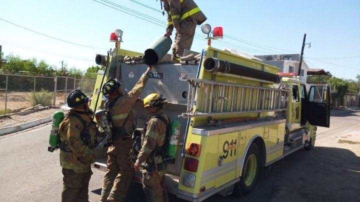 Explosión de línea de gas provoca fuerte movilización de Bomberos en Empalme