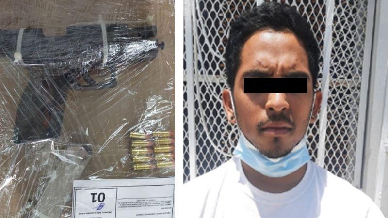 Aprehenden a sujeto armado en frontera de Sonora; llevaba un arma de fuego cargada