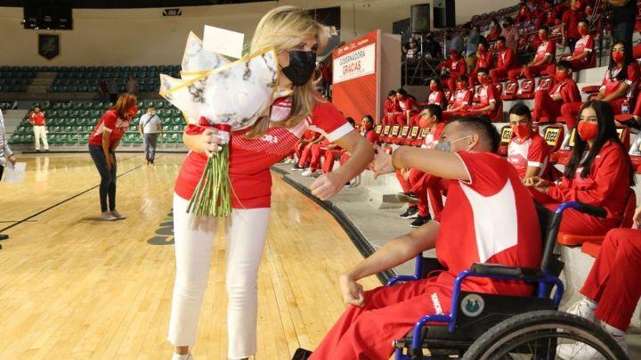 Sonora: Claudia Pavlovich abandera la 'Ola Roja' que participará en Juegos Nacionales Conade 2021