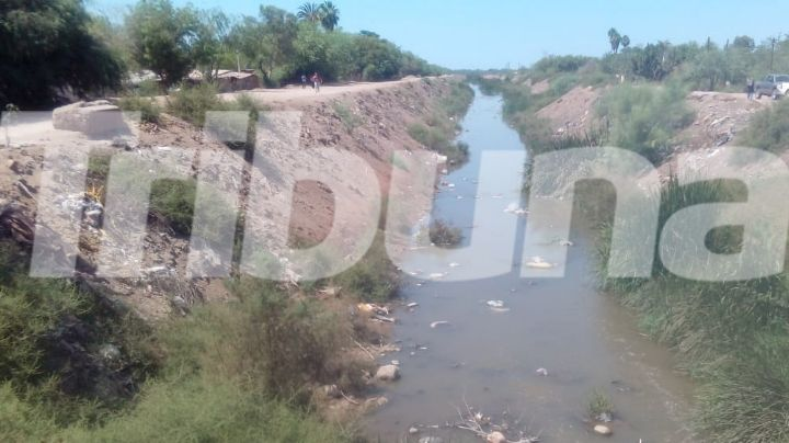 Dren las Animas: Un cauce de aguas negras por la ciudad de Huatabampo, Sonora