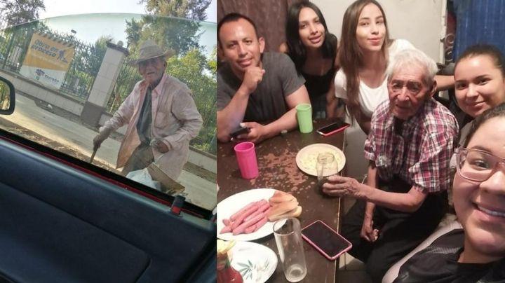 ¡Qué lindo gesto! Familia mexicana adopta a un anciano de 108 años; vivía debajo de un árbol