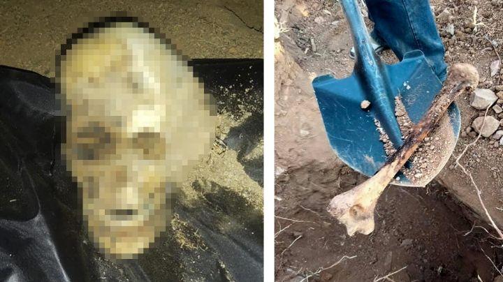 Encuentran cadáver de hombre sepultado en Sonora; estaba en estado de osamenta