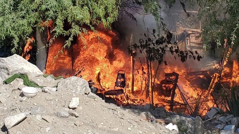 Hermosillo: Familia pierde su vivienda tras un voraz incendio en El Jito