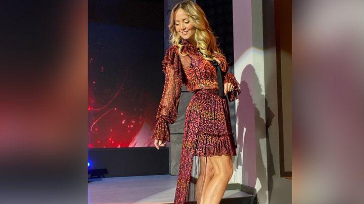 Andrea Legarreta hace arder Televisa al posar en atrevido vestido negro desde 'Hoy'