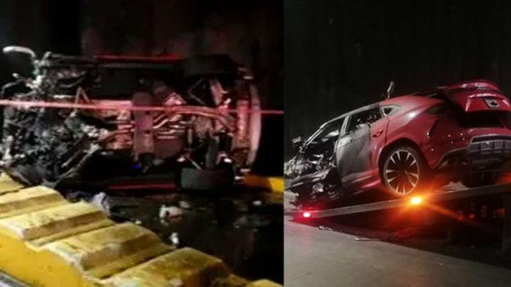 VIDEO: Conductor de Lamborghini sufre brutal accidente y muere en GDL; acabó prensado y calcinado