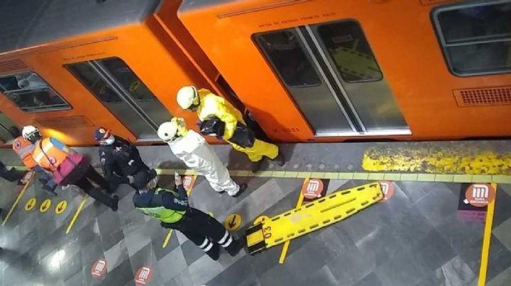 De terror: Hombre se arroja a las vías del Metro de la Ciudad de México y es arrollado