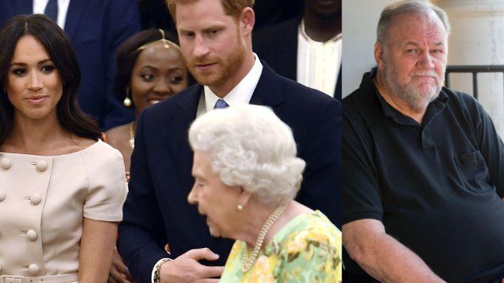 """""""Los utilizó"""": Padre de Meghan Markle asegura que Oprah les hizo atacar a la Reina Isabel II"""