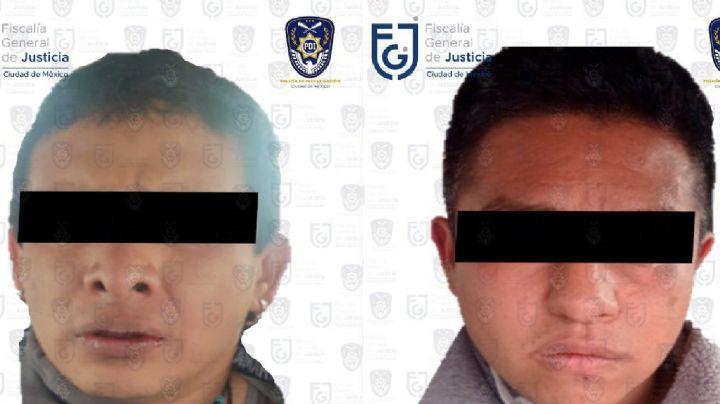 Detienen a 2 presuntos integrantes del CJNG por su participación en un secuestro en la CDMX