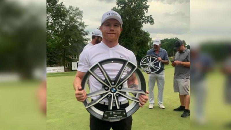 El triunfo del 'Canelo' Álvarez también está fuera del ring: Se convierte en campeón del golf