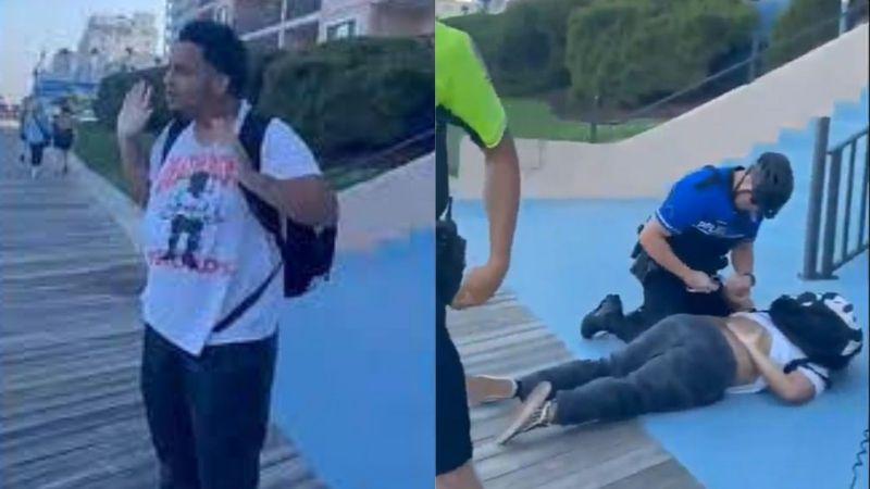 VIDEO: Cinco policías blancos electrocutan a un joven afroamericano por vapear en la calle