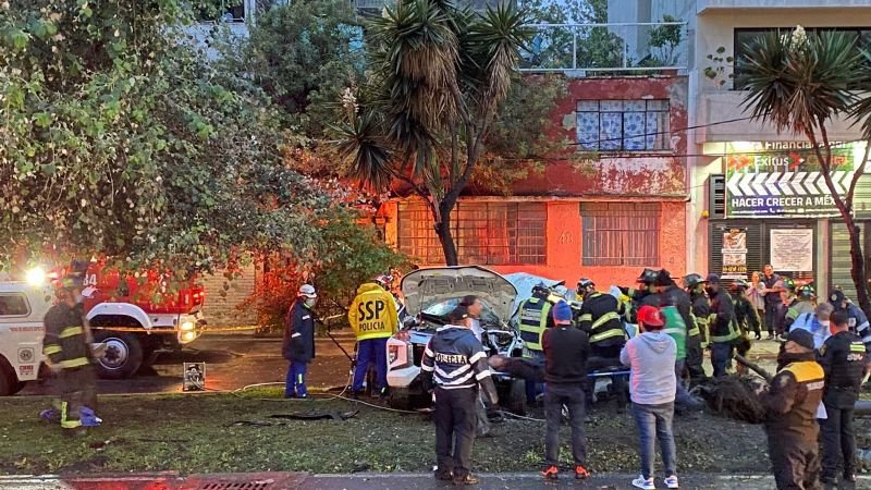 Trágico accidente: 3 muertos fue el saldo de un choque ocasionado por el mal clima en la CDMX