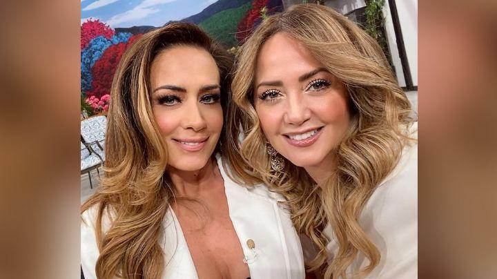 Andrea Legarreta enloquece Televisa al posar en atrevido vestido rojo desde 'Hoy'