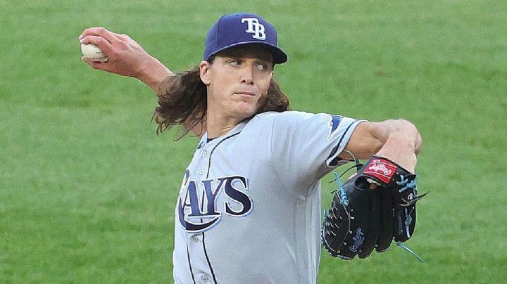 Malas noticias en Tampa; el estelar Tyler Glasnow se lesiona su brazo de lanzar