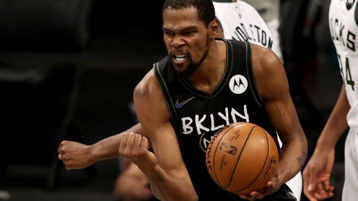 Noche histórica de Durant y los Nets y Brooklyn le sacan el triunfo a los Bucks de Milwaukee