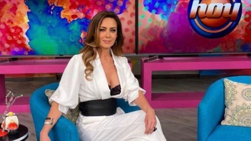 """Anette Michel conquista a todo Televisa con espectacular 'outfit' negro en 'Hoy': """"Qué bárbara"""""""