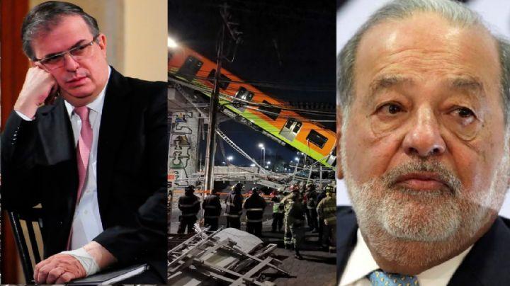 ¿Serían Ebrard y Slim los culpables? Gobierno CDMX presenta peritaje por derrumbe de Línea 12