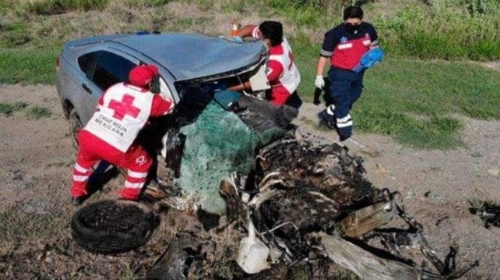 Mueren dos tras brutal accidente en carretera de Tamaulipas; conductor conducía alcoholizado